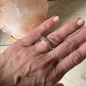 Jewelry - Sterling silver pink stone band